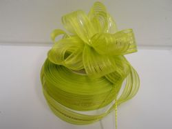 Apple Green 2 or 25 metres 25mm Fasbo Pull Bow Ribbon Roll Craft Double Side Bows UK
